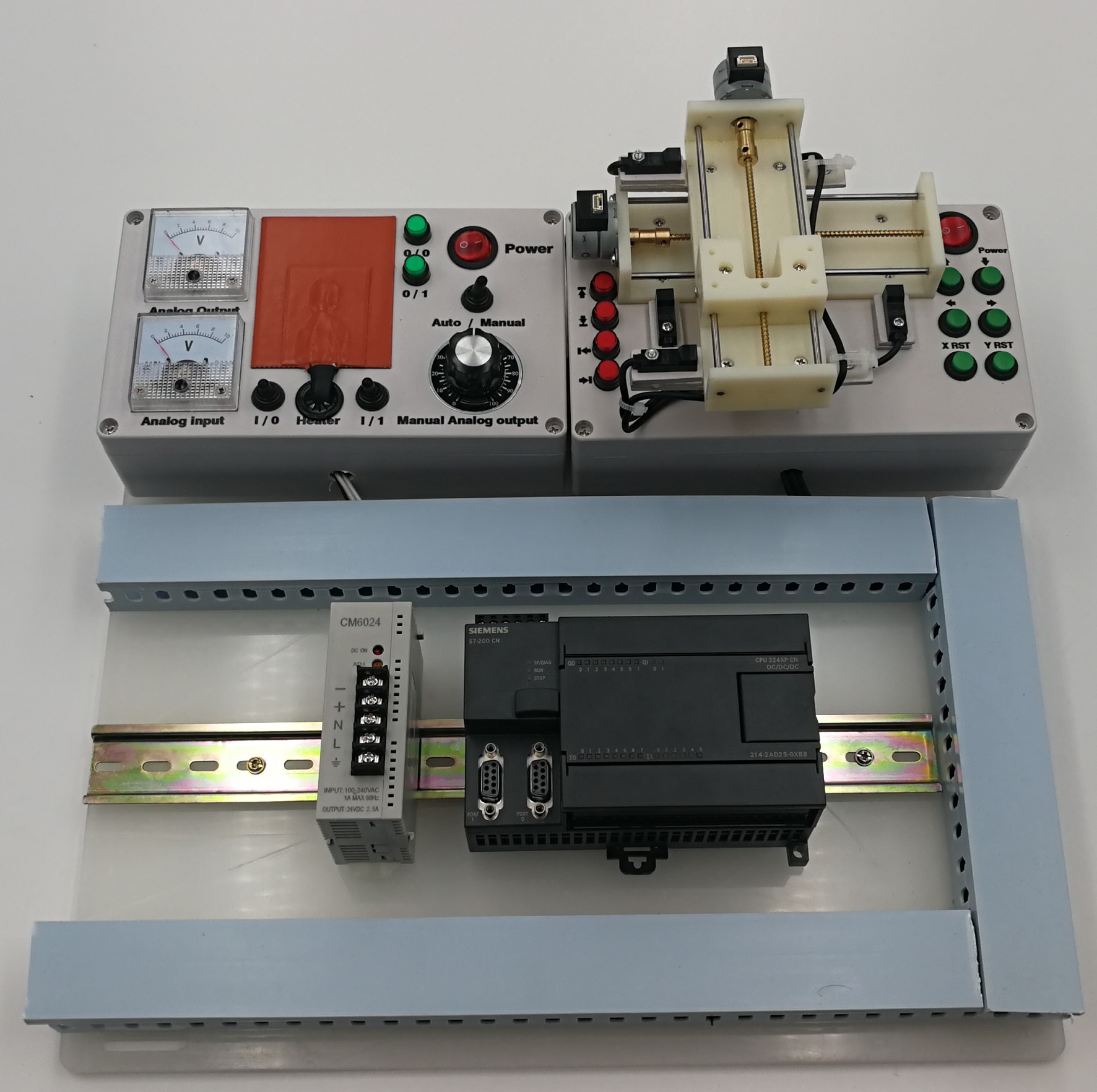 Siemens S7-200 CPU224XP Analog Stepper PLC Trainer